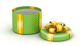 Open green gift box Royalty Free Stock Photo