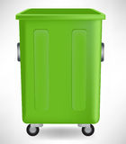 Open green open trash can Stock Image