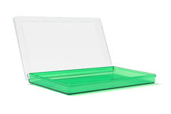 Open Green Plastic Box Stock Image