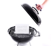 Open the grill Stock Photography