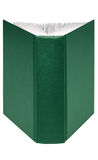 Open groen boek royalty-vrije stock fotografie