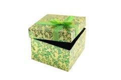 Open groene giftdoos Royalty-vrije Stock Afbeeldingen