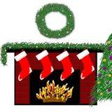 Open haard 3 van de vakantie royalty-vrije stock afbeeldingen