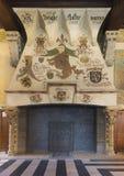 Open haard binnen de Klokketoren van Gent, België. royalty-vrije stock afbeeldingen