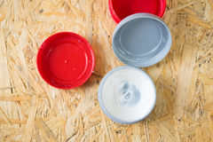 Open hair wax and clay in tubs Stock Photo