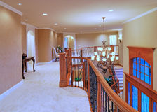 Open Hallway. Hallway in a large american home Royalty Free Stock Photos