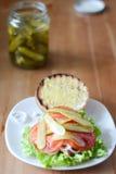 Open hamburger Royalty-vrije Stock Foto's