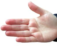 Open hand Royalty Free Stock Photo