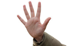 Open hand Royalty Free Stock Photography