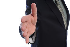 Open Hand. Mans open hand reaching to shake Royalty Free Stock Image