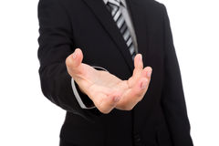 Open hand of business man Stock Photo