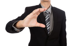 Open hand of business man Royalty Free Stock Image
