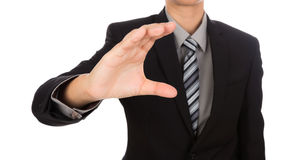 Open hand of business man Stock Image