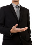 Open hand of business man Royalty Free Stock Photos