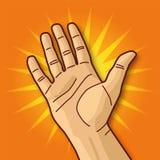 Open hand en onthaal Stock Foto's