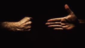 Open hand en vuist stock foto