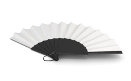 Open hand fan . 3d illustration. Open hand fan  on white bcakground. 3d illustration Royalty Free Stock Photography