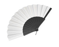 Open hand fan. 3d illustration. Open hand fan  on white bcakground. 3d illustration Stock Images