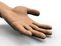 Open hand illustration Royalty Free Stock Images