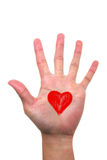 Open Hand with love Stock Photo