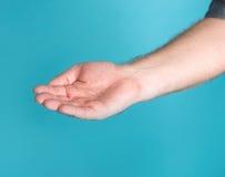 Open hand of man Stock Photo