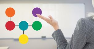 Open hand with mind map Royalty Free Stock Photo