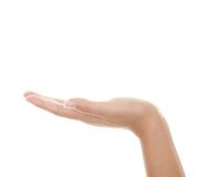 Open hand palm Royalty Free Stock Photos