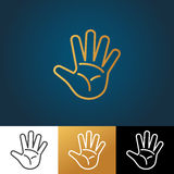 Open hand vector icon Stock Images