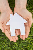 Open Hands Holding a House Royalty Free Stock Photography