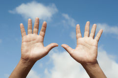 Open hands Royalty Free Stock Image