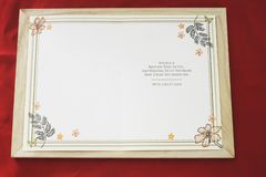 Open a Happy Birthday card on wooden frame
