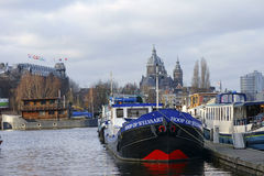 Open Harborfront Amsterdam Royalty Free Stock Photos