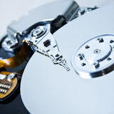 Open hard disc drive Stock Image