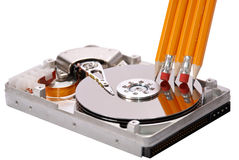 Open hard disk Stock Photos