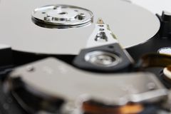 Open hard disk of a computer Royalty Free Stock Image