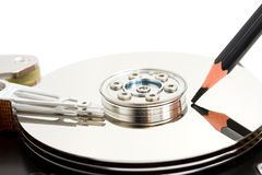 Open hard disk drive Stock Photo