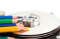 Open hard disk drive Stock Photos