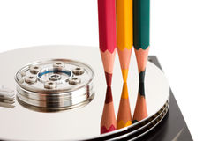 Open hard disk drive Royalty Free Stock Images