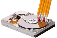 Open hard disk drive Royalty Free Stock Photos