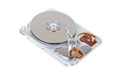 Open hard disk drive isolated Royalty Free Stock Photography