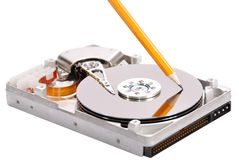 Open hard disk drive studio Stock Photos