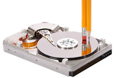 Open hard disk drive studio isolated Stock Photography