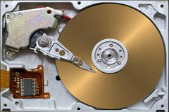 Open hard disk royalty free stock photo