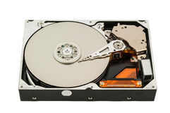 Open hard disk isolated on whirte Royalty Free Stock Image