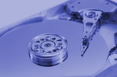 Open hard drive. Blue version Royalty Free Stock Images