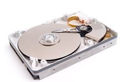 Open hard drive. Isolated on white background Stock Images