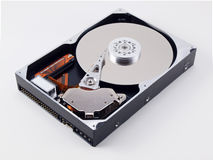 Open Hard Drive in top angle view Royalty Free Stock Images