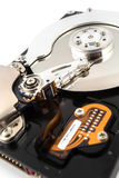 Open hard drive Stock Photos