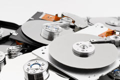 Open hard drives in bulk Royalty Free Stock Image