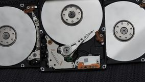Open hard drives. With view inside Stock Photography